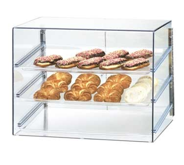"Cal-Mil 1202 Classic Three Tier Pastry Display Case with Rear Door 27"" x 20"" x 20"""