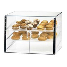 "Cal-Mil 1202-S Classic Three Tier Pastry Display Case with Front Door 27"" x 20"" x 20"""