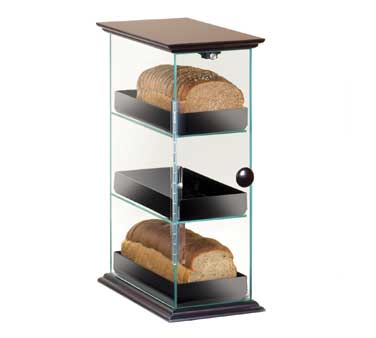 Cal-Mil 1204-52 3 3 Level Bread Box with Wood Top and Base