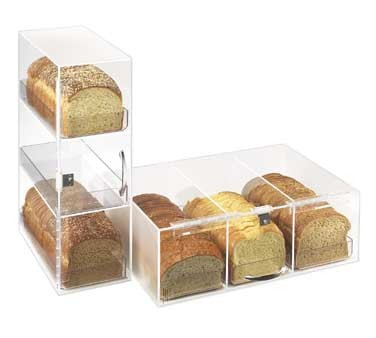 Cal-Mil 1204 Three Section Clear / Frosted Bread Box