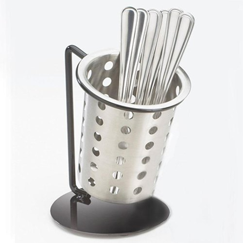 Cal-Mil 1226-39-PERF Perforated Cutlery Holder with Iron Display Stand