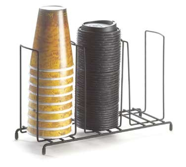 """Cal-Mil 1229 Iron Three Section Cup / Lid Organizer 13"""" x 4-1/2"""" x 8-1/2"""""""