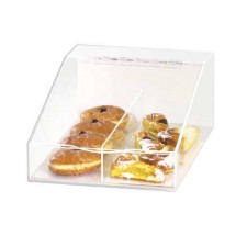 "Cal-Mil 123 Classic Acrylic Food Bin with Removable Divider 13"" x 16"" x 7"""