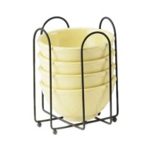"""Cal-Mil 1237 Iron Plate and Napkin Holder 6-1/2"""""""