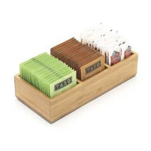 "Cal-Mil 1246 Bamboo Packet Organizer 9-1/2"" x 4-1/2"" x 2-1/4"""