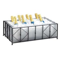 """Cal-Mil 1250-12-13 Iron Ice Housing with Clear Pan 12"""" x 20"""" x 7-1/2"""""""