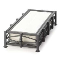 """Cal-Mil 1253 Iron Napkin Holder with Removable Inner Body 10"""" x 5"""" x 2-1/2"""""""