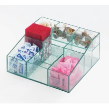 Cal-Mil 1260-43 Aqua Square Condiment Holder, 12