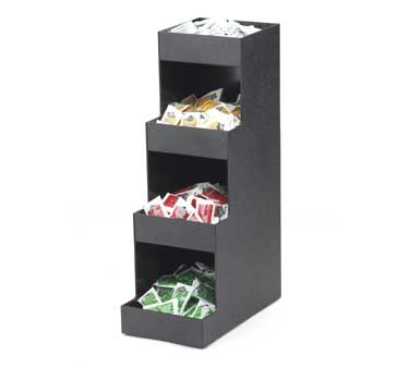 Cal-Mil 1261 Black 3 Tier Coffee Amenity Unit
