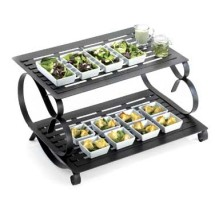 Cal-Mil 1267 Black Iron 2 Tier Riser