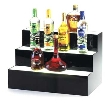 Cal-Mil 1269 Three Step Lit Acrylic Bottle Display