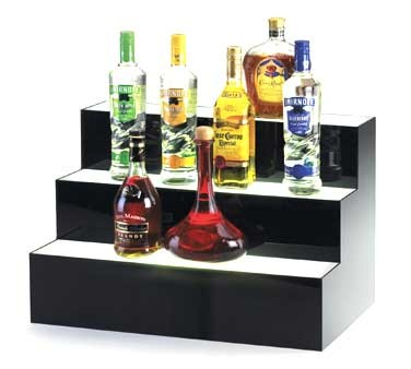 "Cal-Mil 1269 Underlit Acrylic 3 Step Bottle Display 24"" x 14-1/2"" x 15-1/2"""