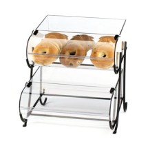"Cal-Mil 1280-2 Two Tier Black Wire Pastry Display 15-1/2"" x 17-3/4"" x 17-1/2"""