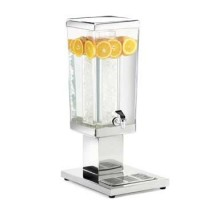 Cal-Mil 1282-3A 3 Gallon Stainless Steel Square Beverage Dispenser