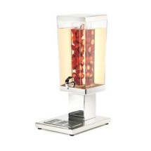 Cal-Mil 1282-3AINF 3 Gallon Stainless Steel Square Infusion Beverage Dispenser