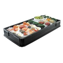 """Cal-Mil 1285 Ice Bin with Divider 48-1/2"""" x 25"""" x 6"""""""