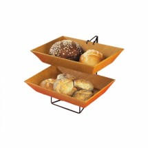 Cal-Mil 1290-2 Two-Tier Wire Merchandiser with Bamboo Trays , 18