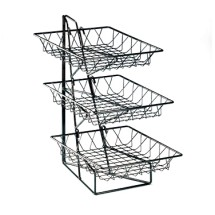 """Cal-Mil 1293-3 Three Tier Merchandiser with Square Wire Baskets 12"""" x 19"""" x 20"""""""