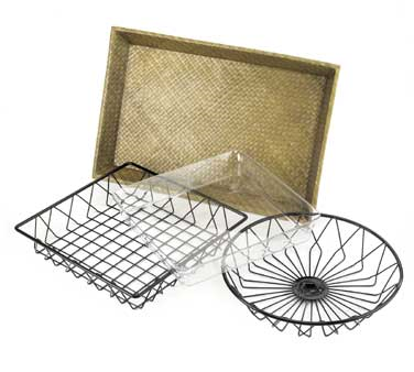 Cal-Mil 1293TRAY Square Wire Basket For 1293 Tray Rack- 12