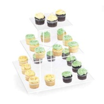 """Cal-Mil 1309-12 Cupcake Display With Clear Shelves, 16"""" x 16"""" x 17-1/4"""""""