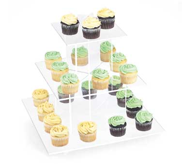 Cal-Mil 1309-12 Cupcake Display With Clear Shelves, 16