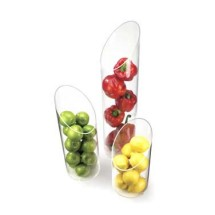 "Cal-Mil 1324-16 Sloped Clear Plastic Accent Display Vase 6"" x 16"""