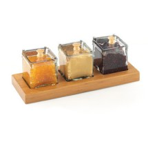 Cal-Mil 1338-60 Bamboo Three Jar Condiment Display