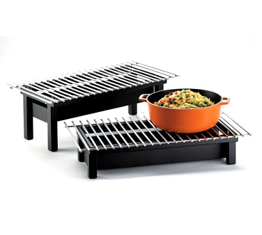 Cal-Mil 1348-22-13 Black Modern Chafer Alternative with Grill 22