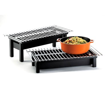 "Cal-Mil 1348-22-13 One by One Black Chafer Griddle 22"" x 12"" x 4"""