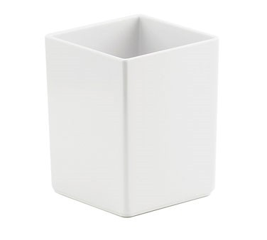 "Cal-Mil 1391-15M Cater Choice White Melamine Box - 5"" x 5"" x 6"""