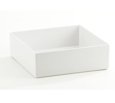Cal-Mil 1393-15M Cater Choice White Melamine Box 10 x 10 x 3