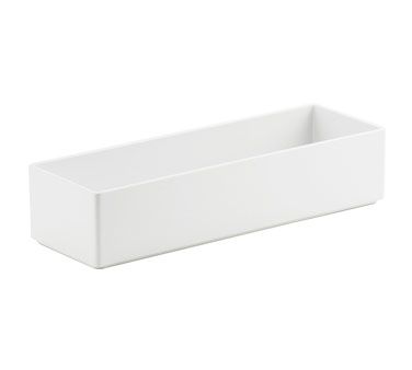 Cal-Mil 1396-15M Cater Choice White Melamine Box 5& x 15& x 3&