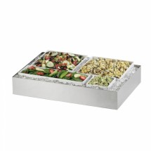 """Cal-Mil 1398-55 Cater Choice System Stainless Steel Ice Housing 32"""" x 24"""" x 4-1/4"""""""