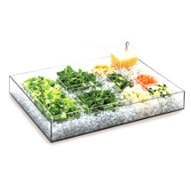 """Cal-Mil 1399-12 Cater Choice System Clear Ice Housing 24"""" x 16"""" x 4-1/4"""""""