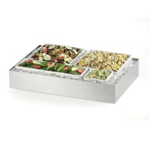 """Cal-Mil 1399-55 Cater Choice System Stainless Steel Ice Housing 16"""" x 24"""" x 4-1/4"""""""