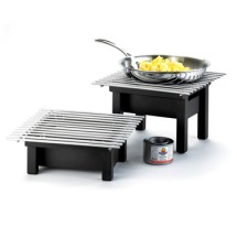 "Cal-Mil 1409-22-13 One by One Black Chafer Griddle 22"" x 12"" x 7"""