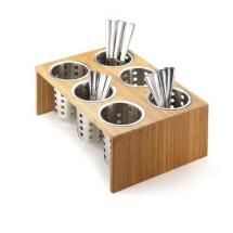Cal-Mil 1425-6-60 Bamboo Six Hole Cylinder Display