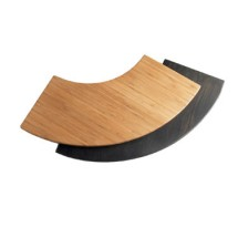 Cal-Mil 1444-16-60 Bamboo Curved Riser Shelf, 16