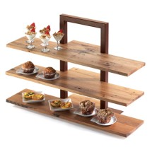 Cal-Mil 1449-68 Crushed Bamboo Frame Riser Shelf for 1464 and 1467