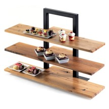 "Cal-Mil 1449-99 Reclaimed Wood Shelf for 3 Tier Frame Riser 32"" x 11-1/2"""