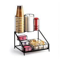 Cal-Mil 1453 Iron Black Coffee Condiment Display