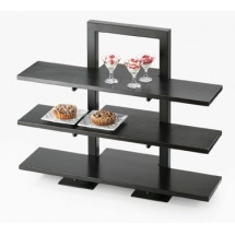 "Cal-Mil 1464-13 Black Three Tier Frame Stand 18-1/4"" x 11"" x 25"""