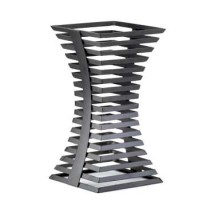 "Cal-Mil 1465-15-13 Black Metal Elevation Riser 8"" x 8"" x 15"""