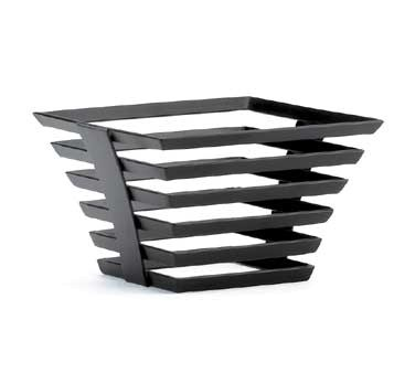 "Cal-Mil 1465-5-13 Black Metal Elevation Riser - 8"" x 8"" x 5"""