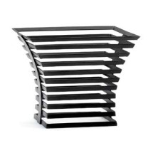 "Cal-Mil 1466-10-13 Black Metal Elevation Riser 12"" x 12"" x 10"""
