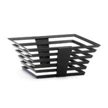 "Cal-Mil 1466-5-13 Black Metal Elevation Riser - 12"" x 12"" x 7"""
