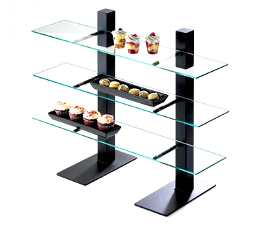 Cal-Mil 1467-48 Brown 3 Tier Metal Frame Stand