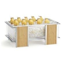 """Cal-Mil 1472 Eco Modern Ice Housing with Clear Pan 21-1/4"""" x 14-1/4"""" x 9"""""""