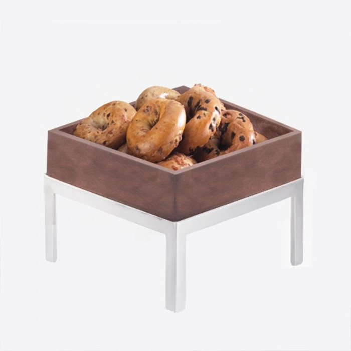 Cal-Mil 1477-10-52 Dark Wood Square Deep Tray, 10