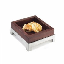 Cal-Mil 1477-8-52 Dark Wood Square Deep Tray, 8